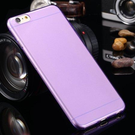 2015 Retro Cute 0.3Mm Transparent Clear Soft Tpu Cas 2026650089-10-Purple For I6 Plus