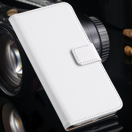 Luxury Retro Top Quality Genuine Leather Case For Iphone 6 Plus 5. 32213204541-2-White