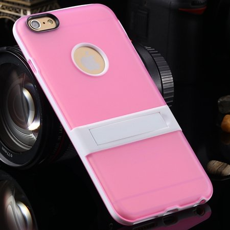 For Iphone 6 5.5 Stand Case Unique Cool Fexibile Soft Tpu Case For 2046620110-8-Pink