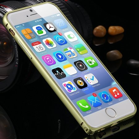Gold Retro Ultra Thin Deluxe Frame Phone Case For Iphone 6 Plus 5. 32213512508-5-Yellow