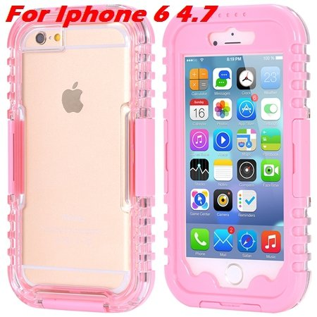 For Iphone 6 Plus Waterproof Case Hot Hard Pc + Soft Silicone Hybi 32276690163-3-Pink For Iphone 6