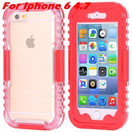 For Iphone 6 Plus Waterproof Case Hot Hard Pc + Soft Silicone Hybi 32276690163-4-Red For Iphone 6