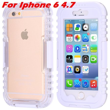 For Iphone 6 Plus Waterproof Case Hot Hard Pc + Soft Silicone Hybi 32276690163-6-White For Iphone 6