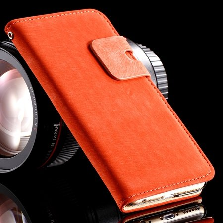 Retro Luxury Crad Slot Stand Wallet Flip Leather Case For Iphone 6 32237833397-3-Red