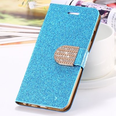 2015 New Arrival Luxury Shiny Gold Diamond Leather Case For Iphone 32267710327-1-Blue