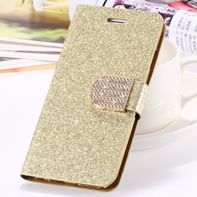 2015 New Arrival Luxury Shiny Gold Diamond Leather Case For Iphone 32267710327-2-Gold