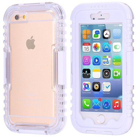 For Iphone 6 5.5Inch Soft Case Retro Anti-Water Sport Waterproof C 32277576039-6-White