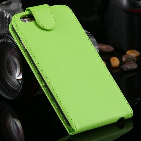 New Arrival Retro Pink Pu Leather Vertical Flip Case For Iphone 6  2027538805-5-Green