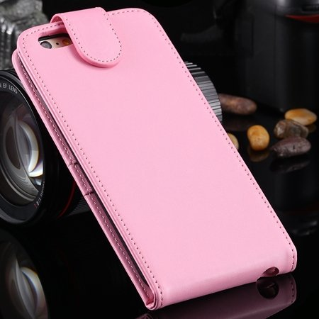 New Arrival Retro Pink Pu Leather Vertical Flip Case For Iphone 6  2027538805-6-Pink
