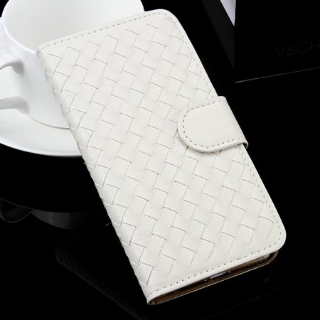For Iphone 6 Plus Wallet Case Lovely Cute Pink Weave Flip Pu Leath 32271386653-2-White