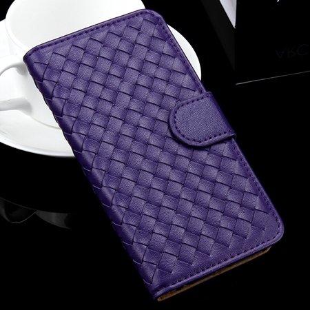 For Iphone 6 Plus Wallet Case Lovely Cute Pink Weave Flip Pu Leath 32271386653-4-Purple