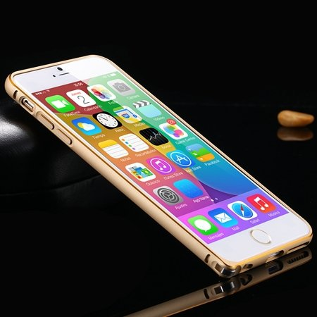 1Pcs/Lot Newest Double Color Metal Phone Cases For Iphone 6 Plus 5 32213408945-5-Gold and Light Gold