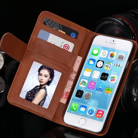 2014 Hot Retro Photo Frame Flip Pu Leather Case For Iphone 6 Plus  32213753290-8-Brown