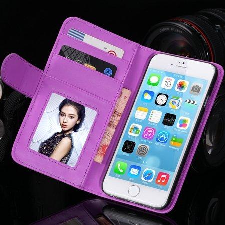 2014 Hot Retro Photo Frame Flip Pu Leather Case For Iphone 6 Plus  32213753290-10-Purple