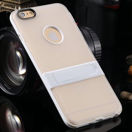 """Newest Protective Pricise Hole Tpu Case For Iphone 6 Plus 5.5"""""""" Tri 2046613690-3-White"""