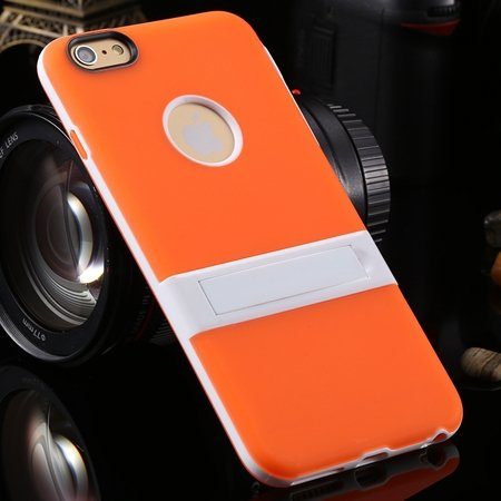 "Newest Protective Pricise Hole Tpu Case For Iphone 6 Plus 5.5"""" Tri 2046613690-9-Orange"