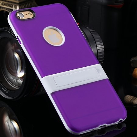 """Newest Protective Pricise Hole Tpu Case For Iphone 6 Plus 5.5"""""""" Tri 2046613690-10-Purple"""