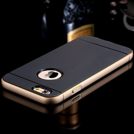 Gold Luxury Metal + Tpu Hybrid Case For Iphone 6 Plus 5.5Inch Cell 32271430212-1-Gold