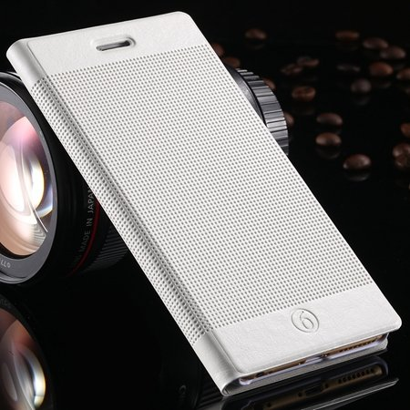 Hot Popluar Retro Grid Pattern Pu Leather Case For Iphone 6 Plus 5 32225230280-3-White