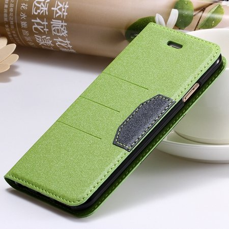 "Navy Blue Original Brand Pu Leather Case For Iphone 6 Plus 5.5"""" Fl 32255681496-2-Green"
