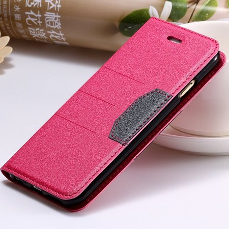 """Navy Blue Original Brand Pu Leather Case For Iphone 6 Plus 5.5"""""""" Fl 32255681496-5-Hot Pink"""