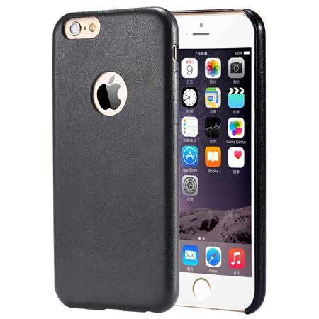 Gold Luxury Back Pu Leather Case For Iphone 6 Plus 5.5Inch Cell Ph 32271193158-4-Black