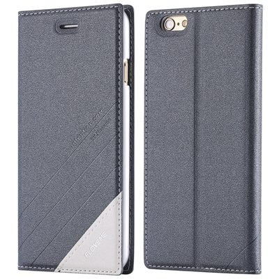 2015 New Luxury Retro Magnetic Full Flip Pu Leather Case For Iphon 32271867092-6-Dark Gray