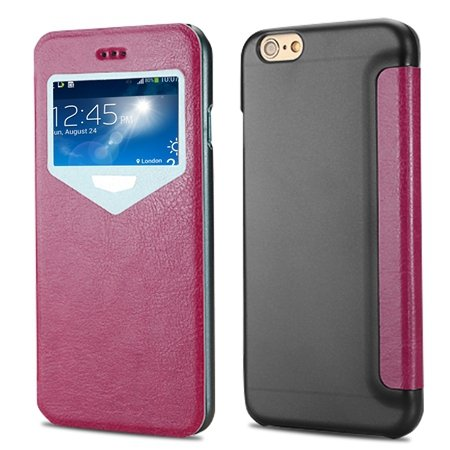 "2015 New Luxury Vinatge Pu Leather Case For Iphone 6 Plus 5.5"""" Win 32270584493-5-Hot Pink"