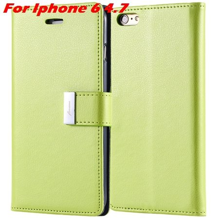Luxury Wallet Flip Leather Case For Iphone 6 /Iphone 6 Plus Stand  32279124341-5-Green For Iphone 6