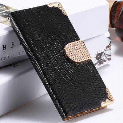 Big Promotion Women Girl'S Bling Luxury Shiny Diamond Leather Case 32266656935-1-Black