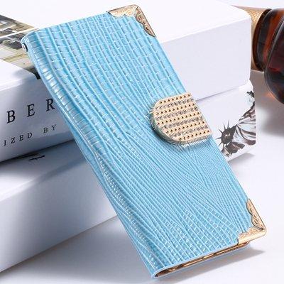 Big Promotion Women Girl'S Bling Luxury Shiny Diamond Leather Case 32266656935-4-Blue