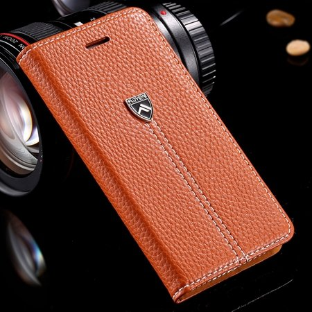 Luxury Business Top Quality Flip Genuine Leather Cover Case For Ap 32271242622-2-Brown