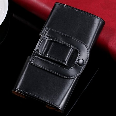 Retro Luxury Universal Belt Clip Flip Pu Leather Case For Iphone 6 32297073387-1-Black