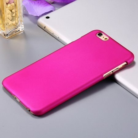 For Iphone 6 Plus Hard Case Retro Luxury Oil Wax Feeling Scrub Cas 32279138432-5-Hot Pink