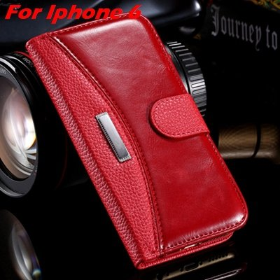 Retro Classic Business Style Pu Leather Case For Iphone 6 Plus Mob 32254553998-7-Red For  I6 Plus