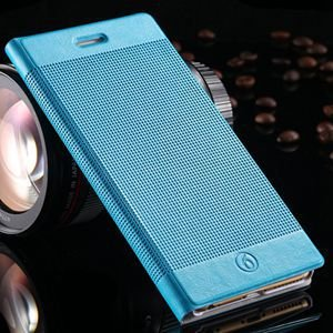 Luxury Retro Red Grid Pattern Pu Flip Leather Case For Apple Iphon 32226170304-6-Light Blue