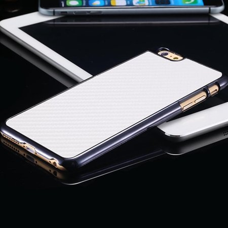 New Arrival Vintage Slim Carbon Fiber Pc Plating Case For Iphone 6 32225519016-2-White