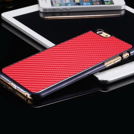 New Arrival Vintage Slim Carbon Fiber Pc Plating Case For Iphone 6 32225519016-3-Red