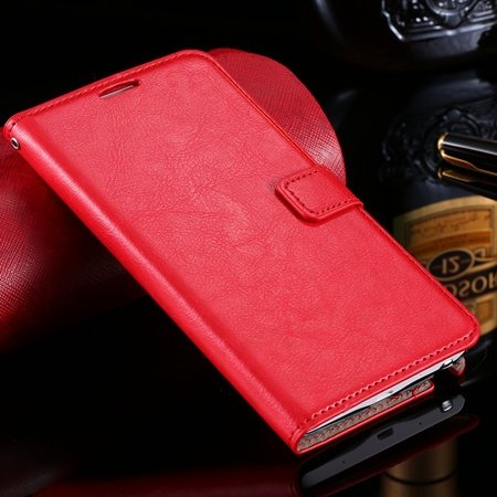 For Note Edge Case Vintage Stand Pu Flip Leather Case For Samsung  32275293499-3-Red