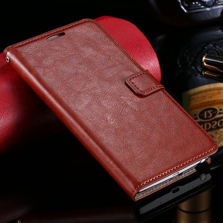 For Note Edge Case Vintage Stand Pu Flip Leather Case For Samsung  32275293499-4-Brown