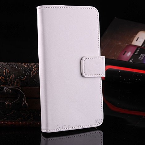 Retro Real Leather Case For Htc One M7 801E Luxury Wallet Stand St 1625334201-2-White