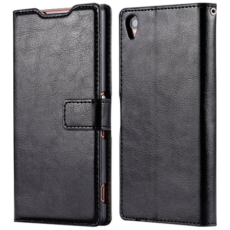 2015 New Arrival Luxury Pu Leather Case For Sony Xperia Z3 D6603 F 32278842578-2-Black