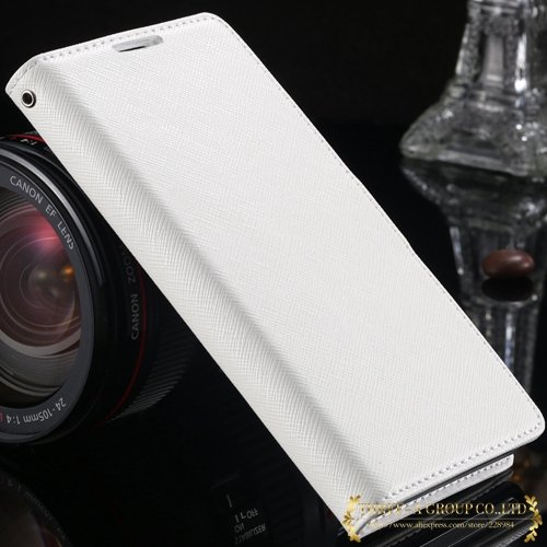 New Luxury Genuine Leather Case For Sony Xperia Z2 L50W Flip Walle 2008132819-2-white