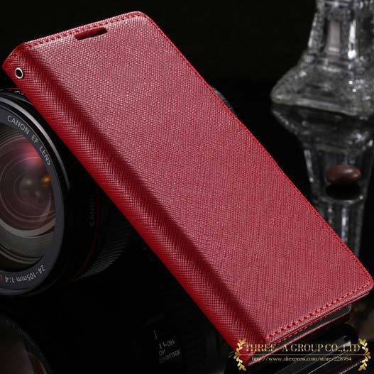 New Luxury Genuine Leather Case For Sony Xperia Z2 L50W Flip Walle 2008132819-3-red