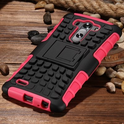 G3 High Quality Pc Hard Back Case For Lg G3 D830 D850 Stand Armor  32271031434-5-Pink