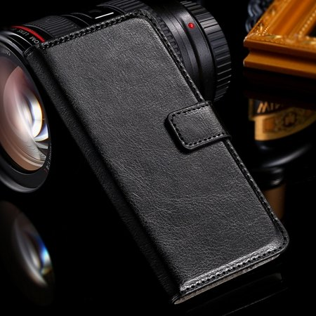 One M7 Wallet Pu Leather Case For Htc One M7 801E Stand Flip Case  32267923262-1-Black