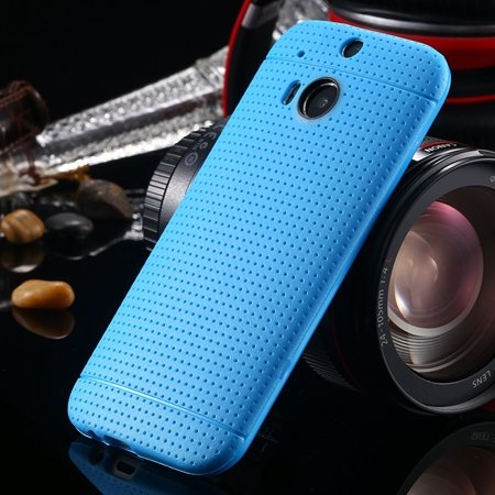 For Htc One M8 Case Top Quality Silicone Gel Soft Case For Htc One 2043067202-1-Sky Blue