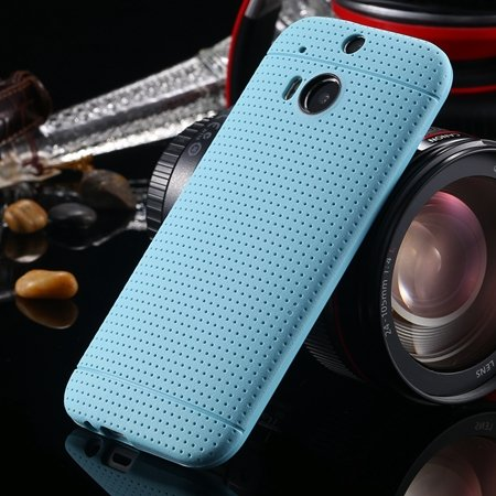 For Htc One M8 Case Top Quality Silicone Gel Soft Case For Htc One 2043067202-3-Light Blue