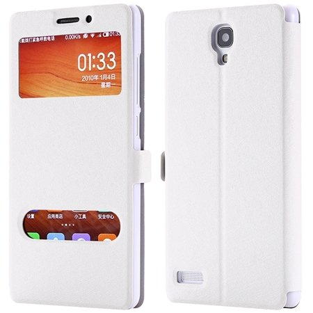 For Hongmi Note Smart Case Luxury Soft Silk Pu Leather Case For Xi 32283801504-2-Sliver