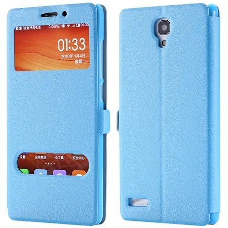 For Hongmi Note Smart Case Luxury Soft Silk Pu Leather Case For Xi 32283801504-4-Sky Blue
